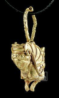 Hellenistic Greek 16K Gold Earring - Harpy