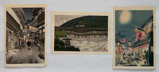 20th c. Japanese School 3 woodblocks