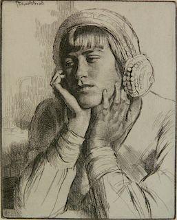Gerald Brockhurst etching