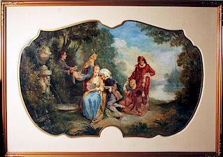 French old master Mystery Artist 1700's painting HUGE