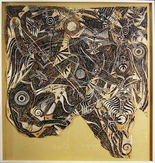 Francois Burland (Swiss, 1958 - ) Art Brut Outsider Art