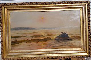 Luminist Seascape Antique Painting