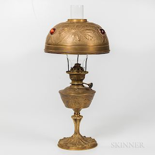 Georges Leleu Art Nouveau Oil Lamp