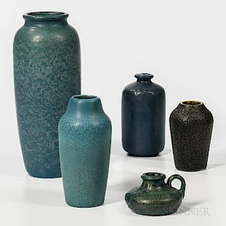 Five Hampshire Pottery Items