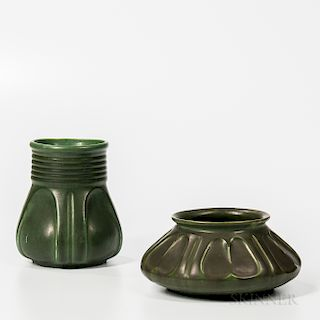 Two Hampshire Pottery Vases