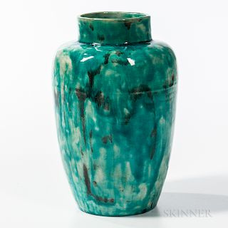 Theophilus A. Brouwer (1864-1932) Flame-painted Pottery Vase