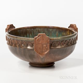 Fulper Pottery Heraldic Bowl