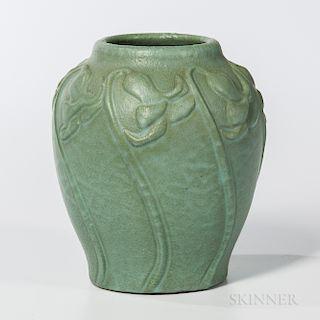 Van Briggle Pottery Green Glaze Vase