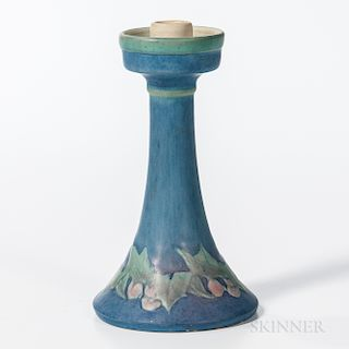 Sadie Irvine for Newcomb College Pottery Holly Candlestick