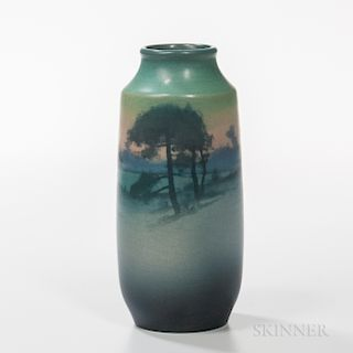 Sally Coyne for Rookwood Pottery Scenic Vellum Vase