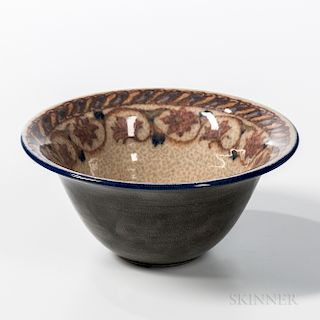 Lorinda Epply for Rookwood Pottery Bowl with Floral Border