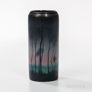 Alice Caven for Rookwood Pottery Night Scene Vase