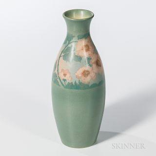 Edward Diers for Rookwood Pottery Vellum Rose Vase