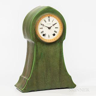Hampshire Pottery Seth Thomas Mantel Clock
