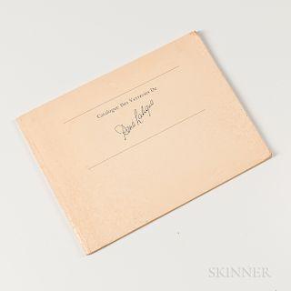 Rene Lalique & Company, Catalogue des Verreries de Rene Lalique