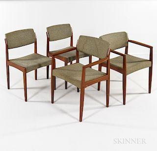 Four Bramin Danish Modern Side Chairs