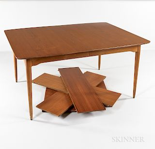 Teak Veneer Dining Table