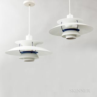 Two Louis Poulsen PH5 Plus Pendant Lights