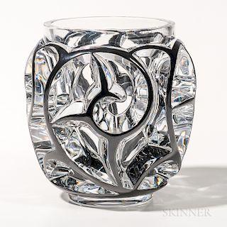 Lalique Tourbillons Crystal Vase