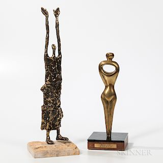 Alfred Burlini (American, 20th Century) Abstract Figure