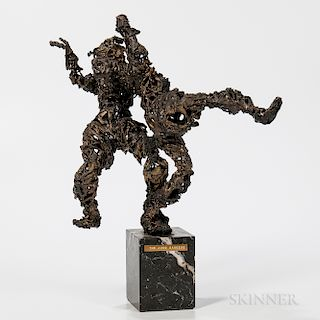 Gilt-metal Sculpture The Judo Dancers