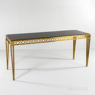 Paul M. Jones (1919-2007) Neoclassical-style Bronze and Marble Console Table
