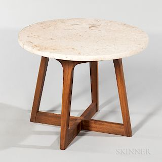 Round Marble-top Side Table