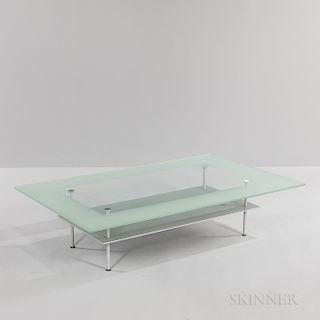 J.P. Cailleres for Ligne Roset Modernist Glass Coffee Table