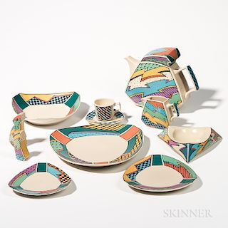 """Dorothy Hafner (American, b. 1952) for Rosenthal """"Flash"""" Pattern Dinnerware"""