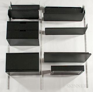 Vitsoe Aluminum and Steel Wall-mounted Desk and Shelving Unit