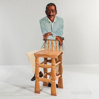 Kathy Callahan (American, b. 1969) Sammy Davis Jr. Stool Sculpture