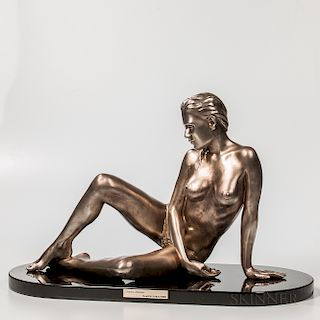 Ramon Parmenter Timeless Innocence, Reflections   Silver Sculpture