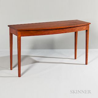 Thomas Moser Bow-front Cherry Console