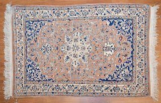 Persian Nain rug, approx. 2.6 x 3.9
