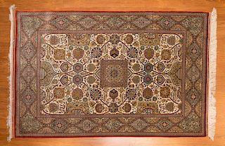 Fine silk Chinese rug, approx. 3 x 5
