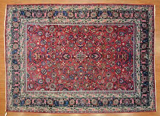 Persian Meshed rug, approx. 8.7 x 11.8
