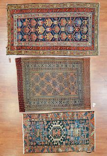 Three antique scatter rugs