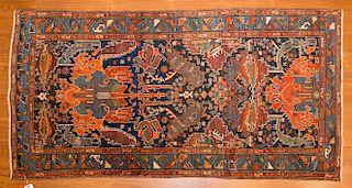 Antique Bahktiari rug, approx. 2.11 x 5.10