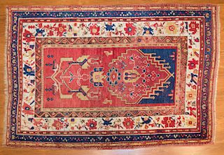 Antique Turkish tribal rug, approx. 3.8 x 5.4