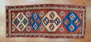 Antique Kazak rug, approx. 3.5 x 8