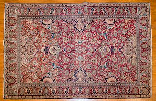 Antique Ispahan rug, approx. 4.7 x 6.10