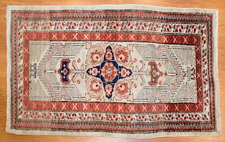 Antique camels hair Serab rug, approx. 2.6 x 4