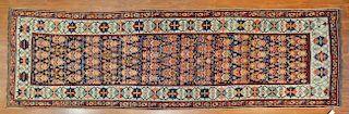 Antique Kazak runner, approx. 4.3 x 13.6