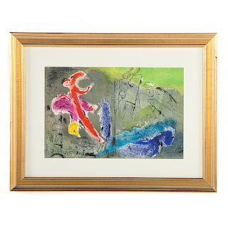 "Marc Chagall. ""Vision of Paris II,"" lithograph"