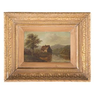 """H. Clements. """"View of N. Windermere,"""" oil"""