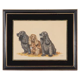 """Jean Bowman. """"Betty and Her Pups Roby and Kitty"""""""