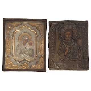 Two 19th century diminutive Russian icons