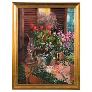 """Barnabus. """"Potting Shed"""", oil on canvas"""