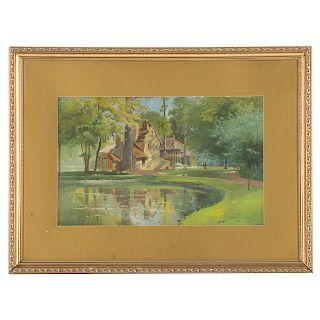 "James Champney. ""Petit Manon,"" watercolor"