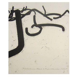 """Bernar Venet, """"Combinaison Aleatoire..."""" etching"""